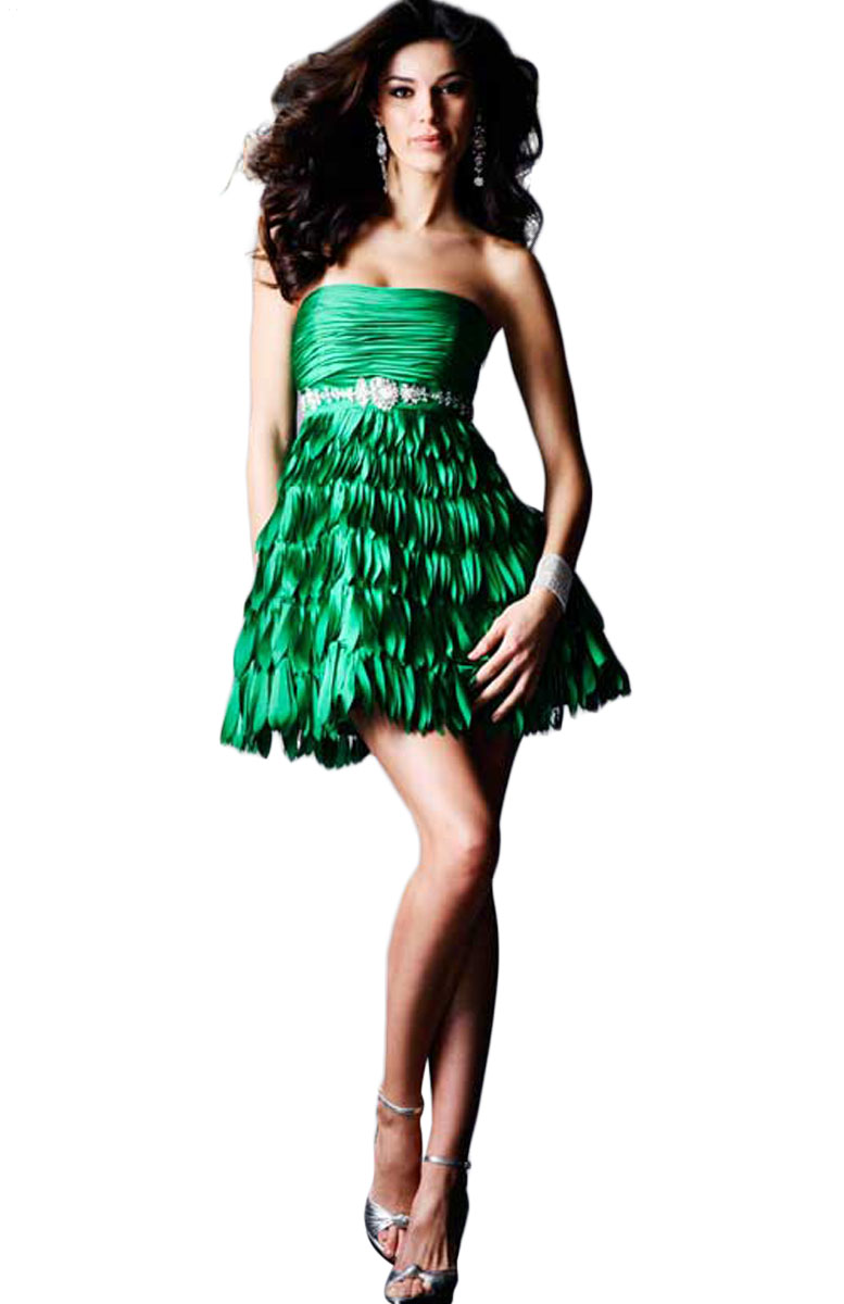 Clarisse 2014 Collection Feather Short Prom Dress at Sears.com